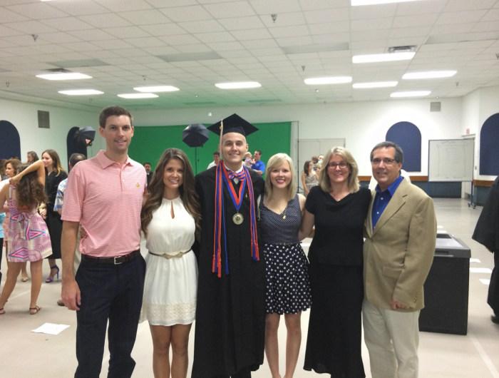 Blake at his graduation.