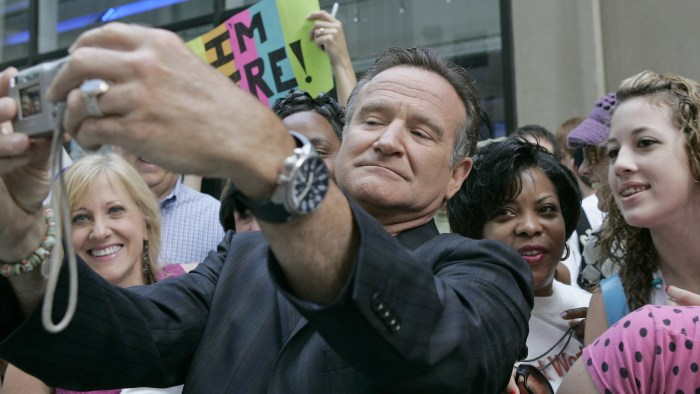 "TODAY -- Pictured: Actor Robin Williams talks about his new film, ""License to Wed"" on NBC News' TODAY on June 28, 2007  (Photo by Virginia Sherwood/NB..."
