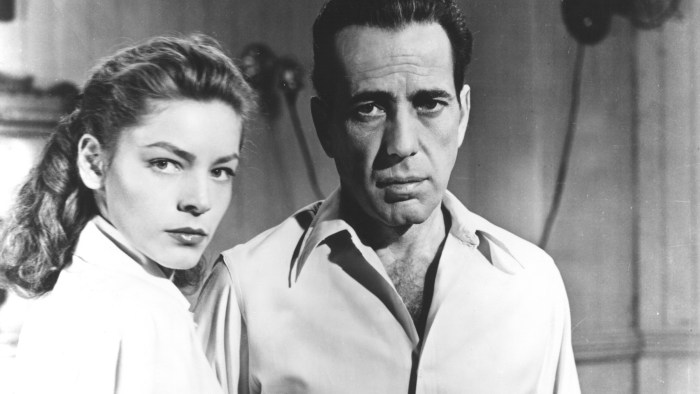 "IMAGE: Lauren Bacall and Humphrey Bogart in ""Key Largo."""