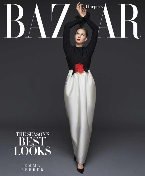 Audrey Hepburn's granddaughter, Emma Ferrer, graces the cover of the September 2014 issue of Harper's BAZAAR.