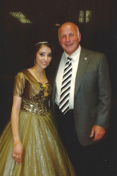 More than 20 years ago, Yonkers Police Department Capt. Joseph Barca (right) saved the life of an infant Shammarah Hamideh (left). It began a lifelong bond that will include Barca attending Hamideh's wedding next week.