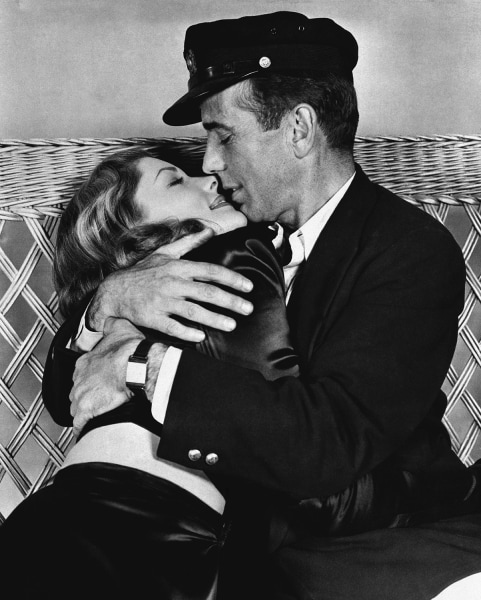 "Humphrey Bogart and Lauren Bacall in ""To Have and Have Not."""