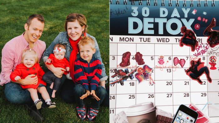 Crystal Askvig is giving up soda, and has been keeping track of her progress on this calendar.