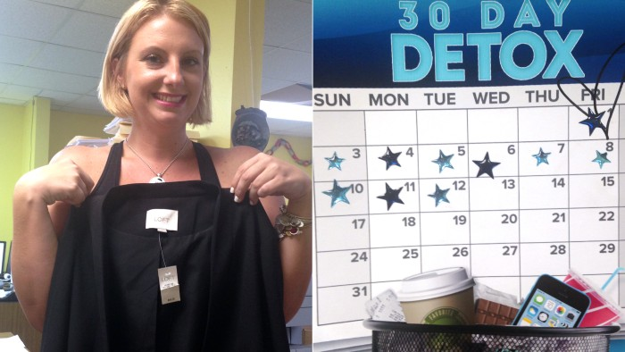 Ashlie Butler has given up shopping for 30 days in August.