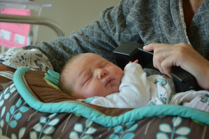 Despite executive producer Don Nash's attempts to wake her with music, little Vale slept through the entire call.