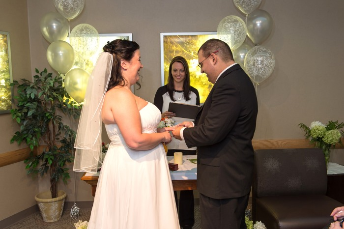 The couple canceled their December wedding plans and moved it up when Lauricella was diagnosed with ALL.