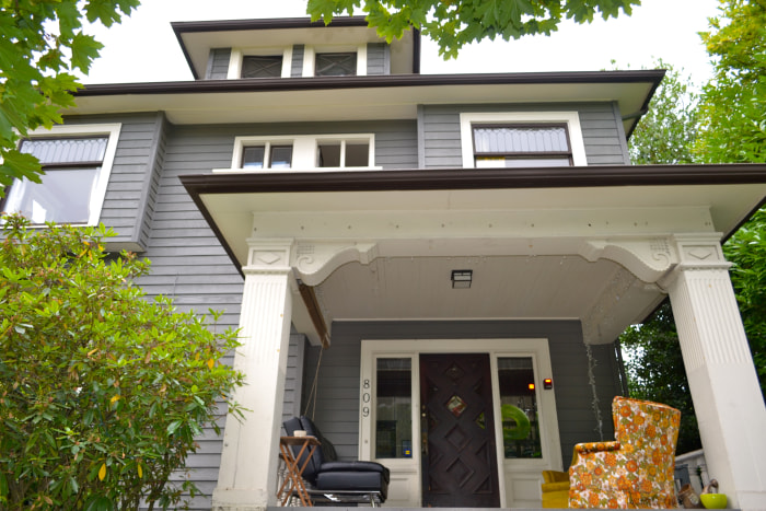 This house on Seattle's Capitol Hill is shared by 10 young professionals.