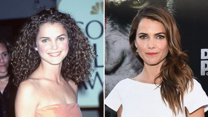 Keri Russell, then and now. Felicity, Felicity, wherefore art thou curls?