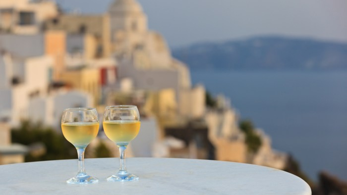 Let these wines transport you to Santorini.