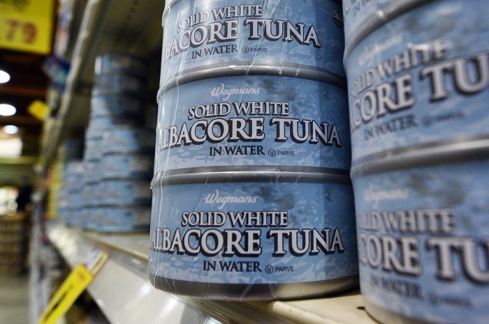 Canned tuna in a store in Fairfax, Virginia