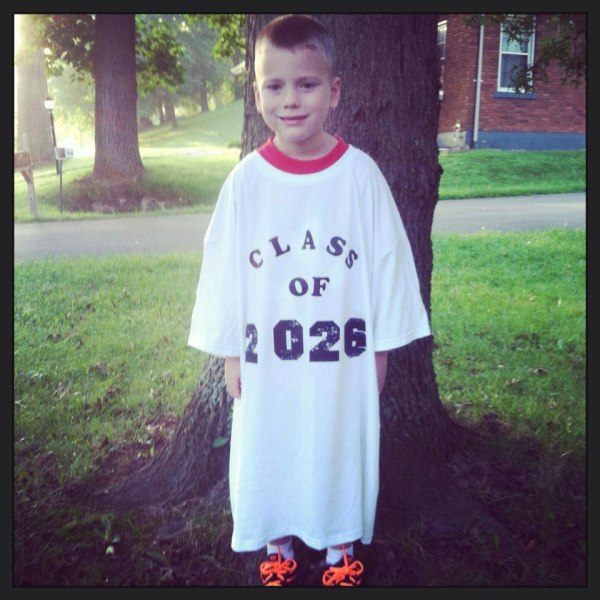 We can't wait to see how this tee shirt fits when this little guy is in high school!
