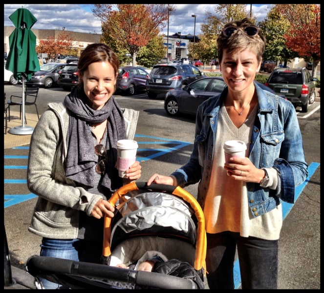 Time to refill those coffee cups... baby number two is on the way for Jenna Wolfe and Stephanie Gosk!