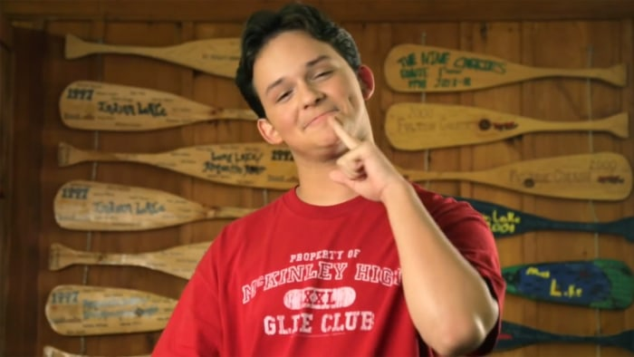 "A student uses American Sign Language in a scene from the ""Happy"" video made by Deaf Film Camp."
