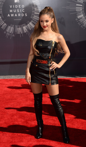 Actress/singer Ariana Grande  arrives on the red carpet at the MTV Video Music Awards (VMA), August 24, 2014 at The Forum in Inglewood, California.   ...
