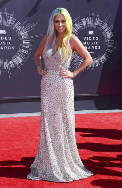 Ke$ha arrives at the MTV Video Music Awards at The Forum on Sunday, Aug. 24, 2014, in Inglewood, Calif. (Photo by Jordan Strauss/Invision/AP)