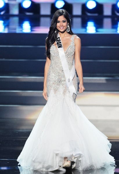 Patricia Yurena Rodriguez, Miss Universe Spain 2013, during the Preliminary Competition in Moscow on November 5, 2013.