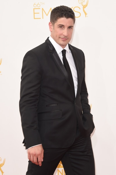 LOS ANGELES, CA - AUGUST 25:  Actor Jason Biggs attends the 66th Annual Primetime Emmy Awards held at Nokia Theatre L.A. Live on August 25, 2014 in Lo...