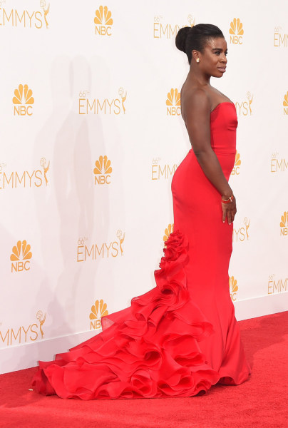 LOS ANGELES, CA - AUGUST 25:  Actress Uzo Aduba attends the 66th Annual Primetime Emmy Awards held at Nokia Theatre L.A. Live on August 25, 2014 in Lo...
