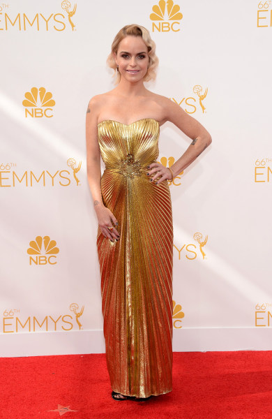 IMAGE DISTRIBUTED FOR THE TELEVISION ACADEMY - Taryn Manning arrives at the 66th Primetime Emmy Awards at the Nokia Theatre L.A. Live on Monday, Aug. ...