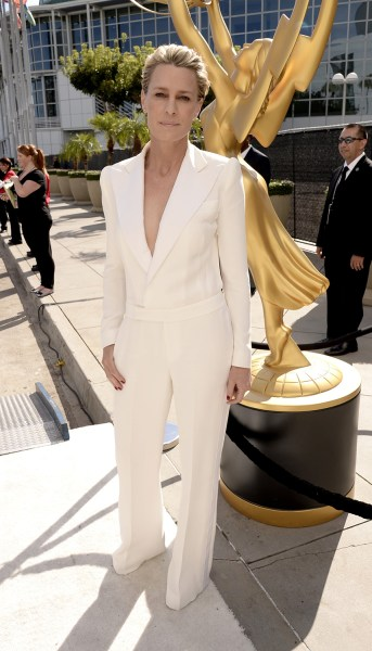 IMAGE DISTRIBUTED FOR THE TELEVISION ACADEMY - Robin Wright arrives at the 66th Primetime Emmy Awards at the Nokia Theatre L.A. Live on Monday, Aug. 2...