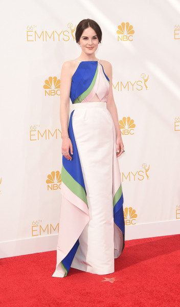LOS ANGELES, CA - AUGUST 25:  Actress Michelle Dockery attends the 66th Annual Primetime Emmy Awards held at Nokia Theatre L.A. Live on August 25, 201...