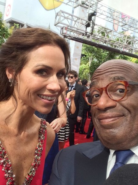 Al Roker and Minnie Driver at the 2014 Emmy Awards.