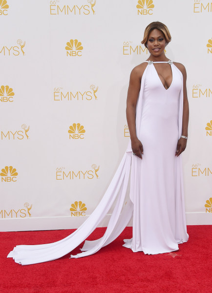 LOS ANGELES, CA - AUGUST 25:  Actress Laverne Cox attends the 66th Annual Primetime Emmy Awards held at Nokia Theatre L.A. Live on August 25, 2014 in ...