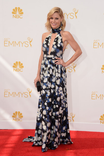IMAGE DISTRIBUTED FOR THE TELEVISION ACADEMY - Julie Bowen arrives at the 66th Primetime Emmy Awards at the Nokia Theatre L.A. Live on Monday, Aug. 25...