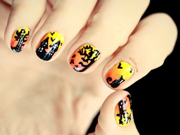 Halloween Nail Art Compilation Here Are Some Simple Halloween Nail