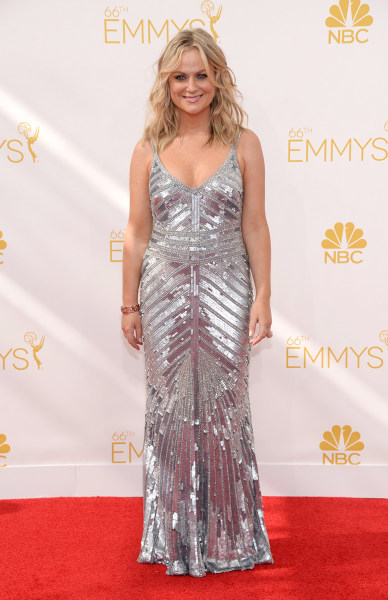 IMAGE DISTRIBUTED FOR THE TELEVISION ACADEMY - Amy Poehler arrives at the 66th Primetime Emmy Awards at the Nokia Theatre L.A. Live on Monday, Aug. 25...