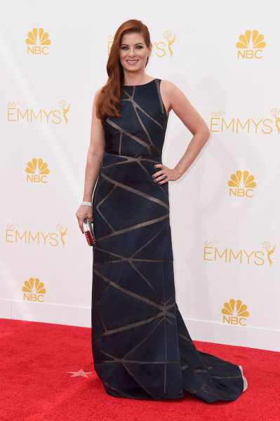LOS ANGELES, CA - AUGUST 25:  Actress Debra Messing attends the 66th Annual Primetime Emmy Awards held at Nokia Theatre L.A. Live on August 25, 2014 i...