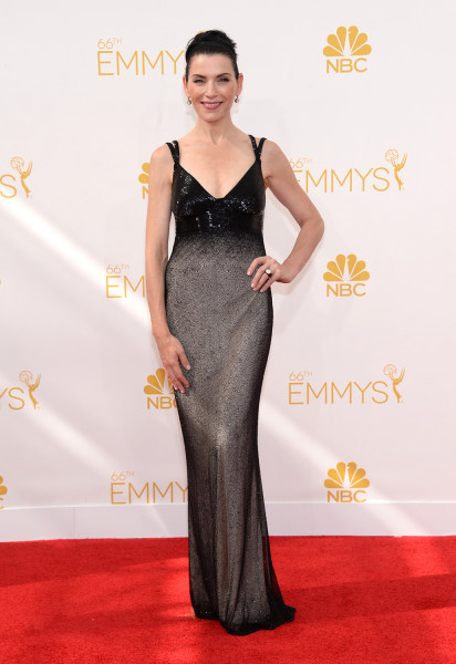 IMAGE DISTRIBUTED FOR THE TELEVISION ACADEMY - Julianna Margulies arrives at the 66th Primetime Emmy Awards at the Nokia Theatre L.A. Live on Monday, ...