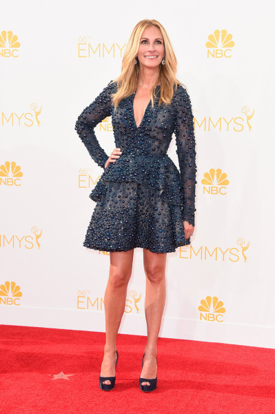LOS ANGELES, CA - AUGUST 25:  Actress Julia Roberts attends the 66th Annual Primetime Emmy Awards held at Nokia Theatre L.A. Live on August 25, 2014 i...
