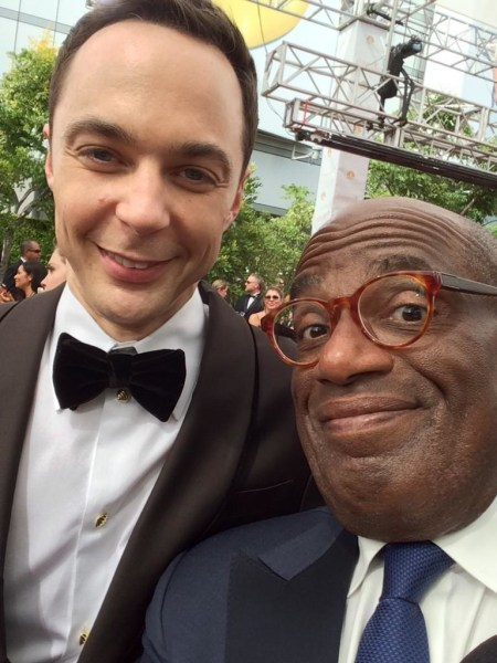 Al Roker and Jim Parsons at the 2014 Emmy Awards.