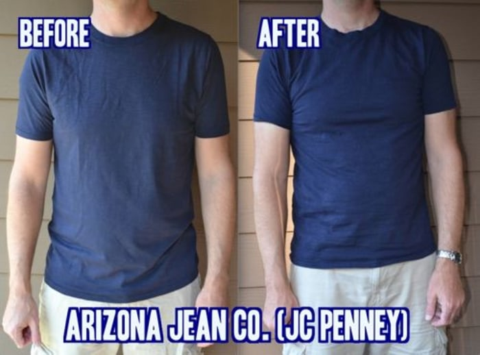 Arizona Jean Co. T-shirts shrank considerably after multiple washes.
