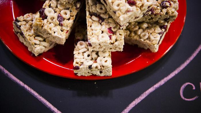 Martha Stewart's cranberry oat bars