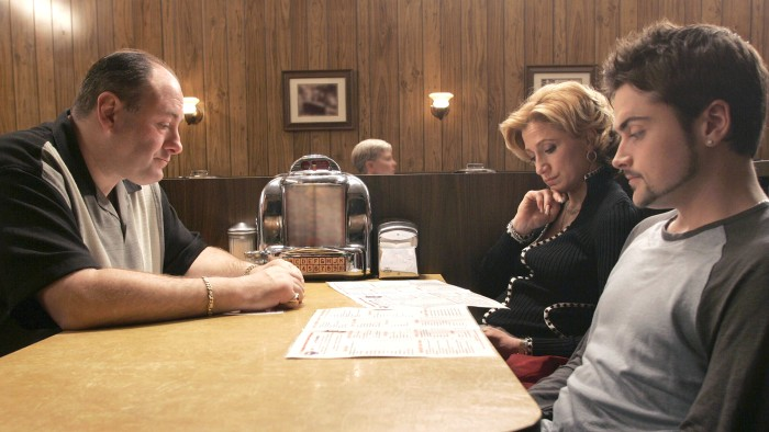 "Image: The final diner scene of ""The Sopranos"""