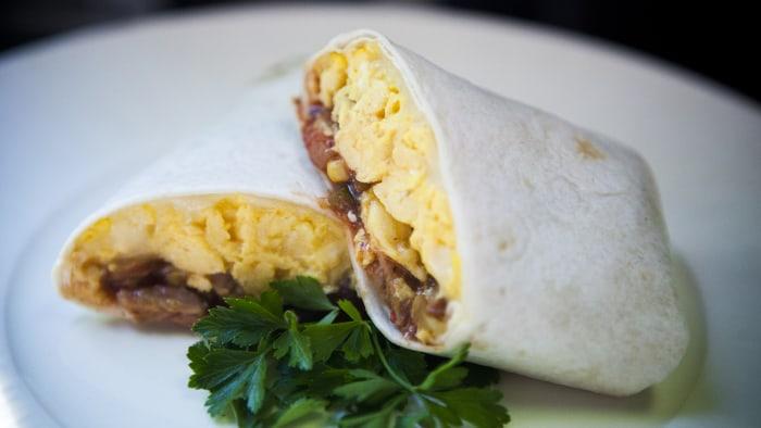 Martha Stewart's breakfast burrito