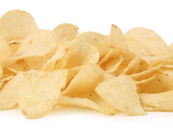Potato Chips close up shot