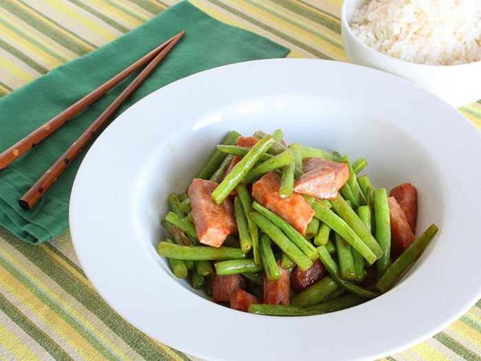 Ham and Green Bean Stir Fry