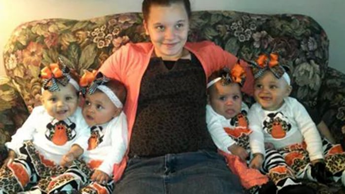 Mother of surprise quadruplets calls herself 'luckiest mom ...