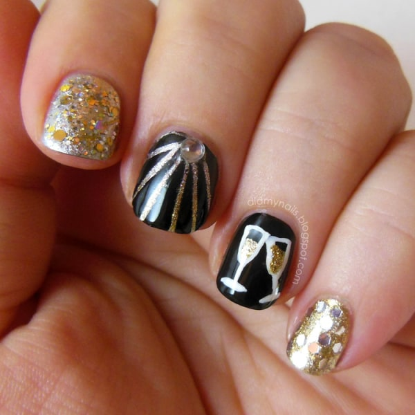 Nail Art New: New Year's Eve Nail Art Ideas As Pretty As Your Party