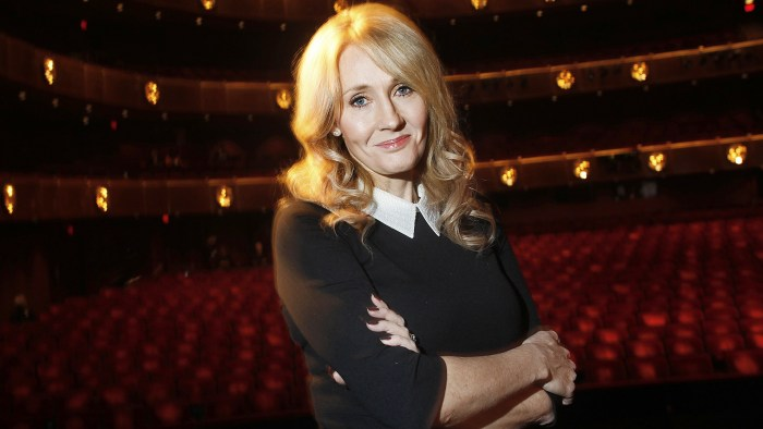 """Author J.K. Rowling poses for a portrait while publicizing her adult fiction book """"The Casual Vacancy"""" at Lincoln Center in New York October 16, 2012...."""