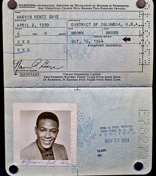 Image: Marvin Gaye passport