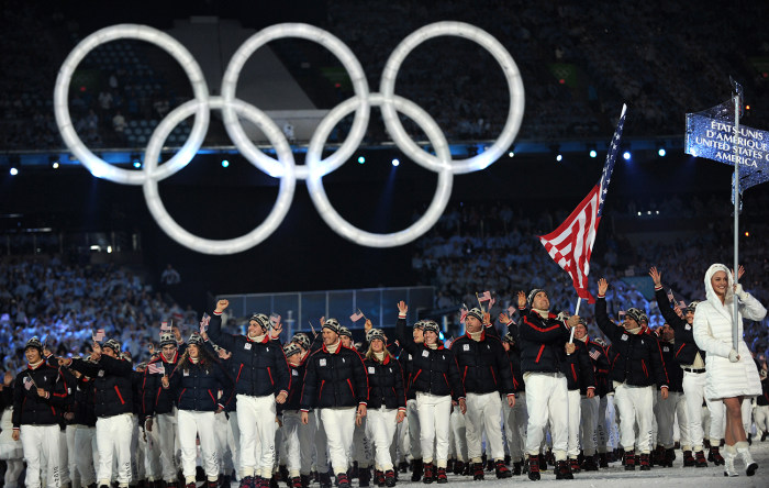 The last U.S. athlete to serve as flag bearer at the Winter Olympics was luger Mark Grimmette in 2010 in Vancouver.