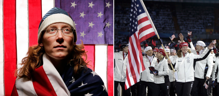 Chris Witty, a rare U.S. Olympian who has competed in the Summer and Winter Games, was the flag bearer in 2006.