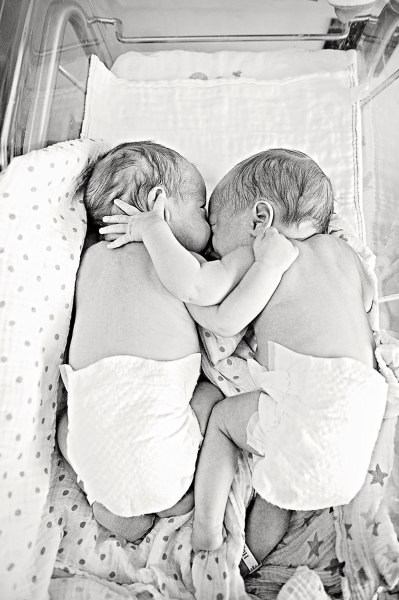 Twins Colton and Weston were born almost 3 months early at 29 weeks gestation and spent 8 weeks in the NICU. This was the first time they had been abl...