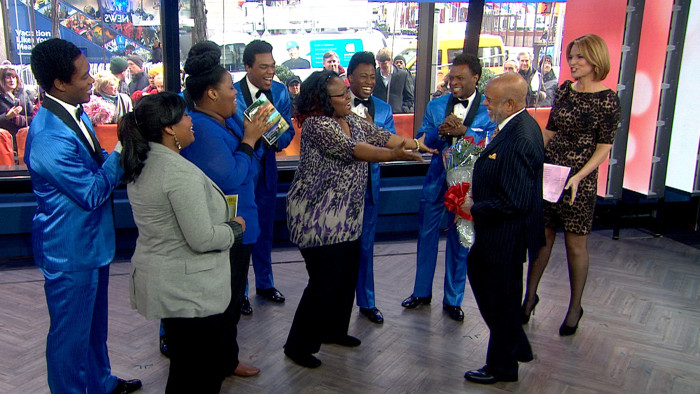 Berry Gordy surprises the ladies on TODAY.