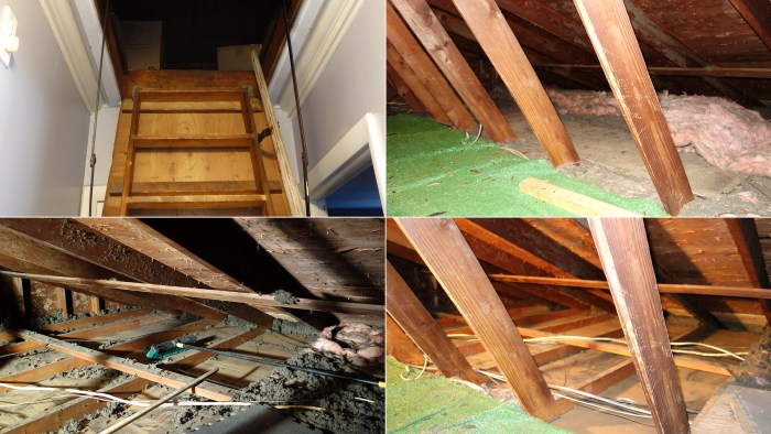 "The ""crappy part"" of the project, according to Brian, was removing nine trash bags worth of insulation from the attic."
