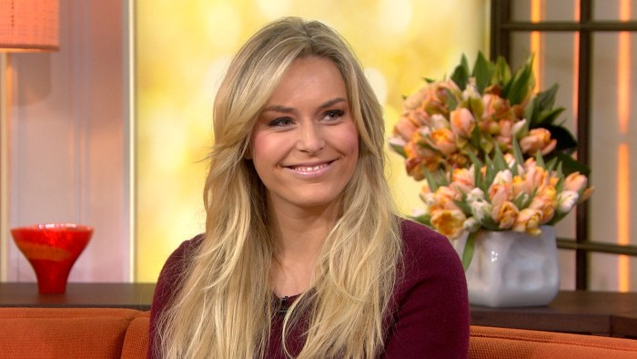 Lindsey Vonn speaks with Savannah Guthrie on the TODAY Show.